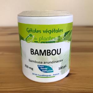 Gélules de bambou de 250 mg