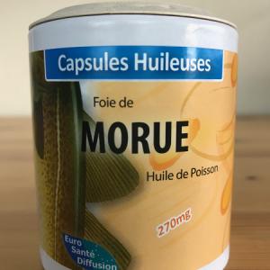 Huile de foie de morue en capsule huileuse