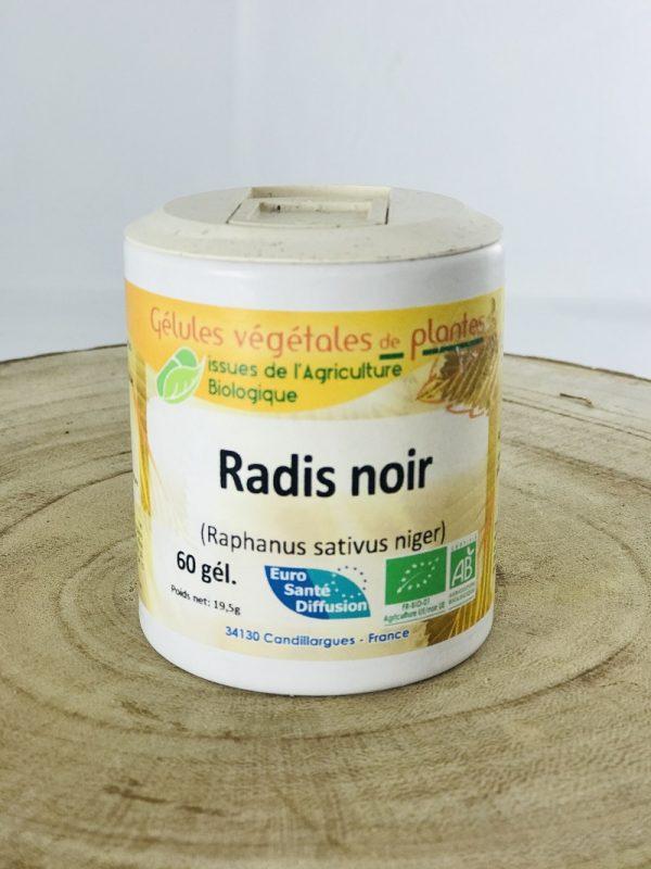Gélules végétales de radis noir bio