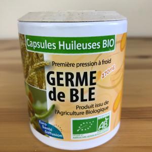 Germe de blé bio en capsules huileuses