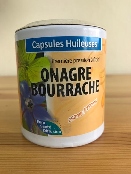 Onagre et bourrache bio en capsules huileuses