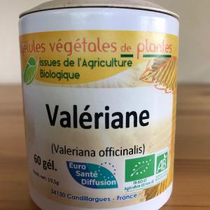Valériane bio en gélule de 250 mg