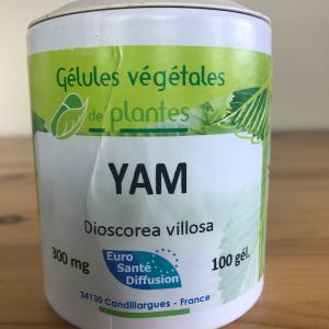 Gélules de yam de 300 mg