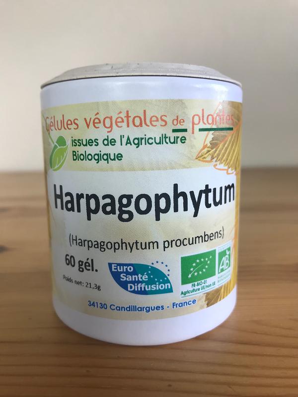 Gélules d'harpagophytum bio de 280 mg