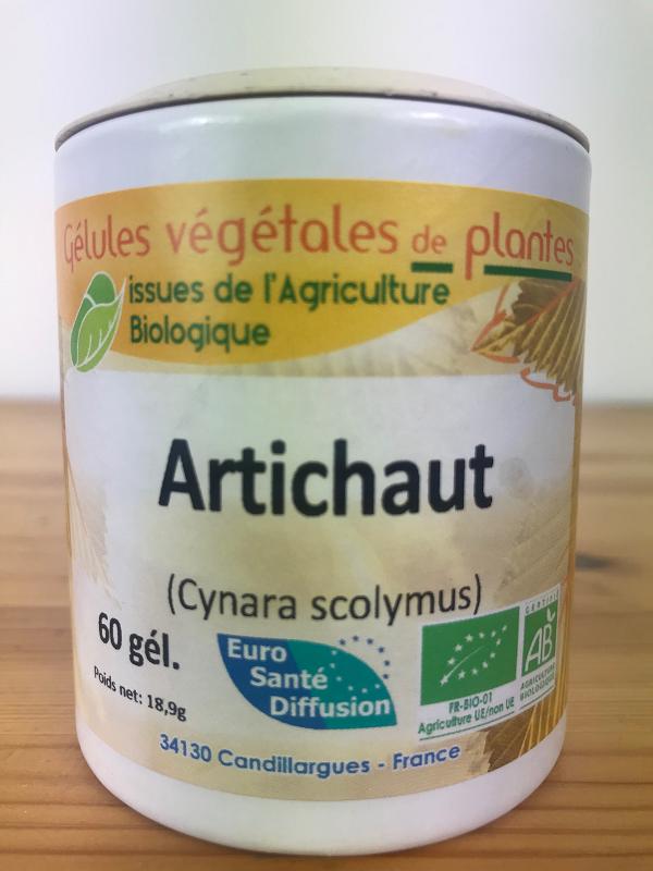 Artichaut feuille bio en gélule de 240 mg