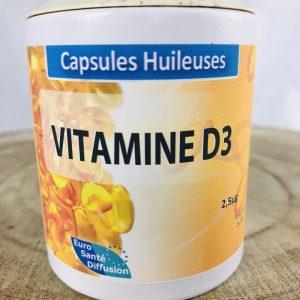 Vitamine D3 capsules huileuses 2,5mcg