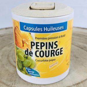 Pépins de courge en capsules huileuses bio